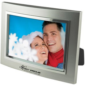 4 x 6 Metalized Plastic Curved Frame for Your Organization