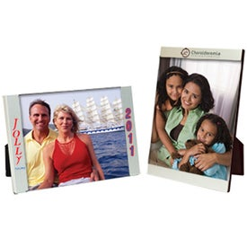 Promotional 4 x 6 Three Piece Brushed Silver Clip Frame