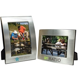 4 x 6 Brushed Silver Curved Frame