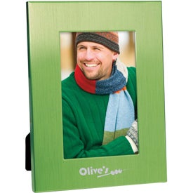 """4"""" x 6"""" Colorful Brushed Aluminum Frame Branded with Your Logo"""