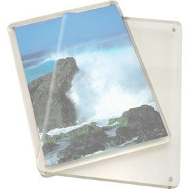 Magnetic Clear Acrylic Photo Frame Imprinted with Your Log