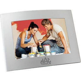 Logo Curved Matte Finish Metal Picture Frame