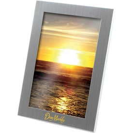 "Silver Metal Picture Frame (4"" x 6"")"