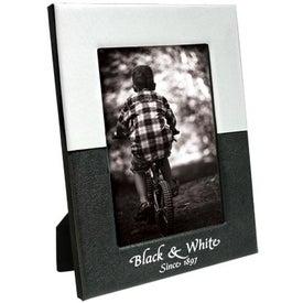 Imprinted 5 x 7 Black and White Frame