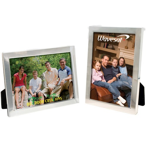 Silver 5 x 7 Brushed Finish Frame