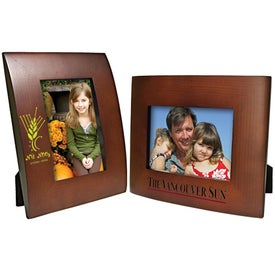 Promotional 5 x 7 Curved Wood Frame