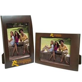 5 x 7 Faux Wood Frame Imprinted with Your Logo