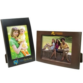 5 x 7 Faux Wood Frame Branded with Your Logo
