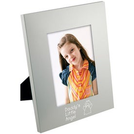 5 x 7 Matte Brushed Silver Frame for Your Company