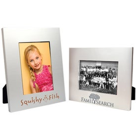 5 x 7 Matte Brushed Silver Frame for Customization