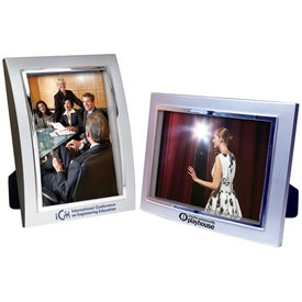 5 x 7 Metalized Plastic Curved Frame with Your Logo