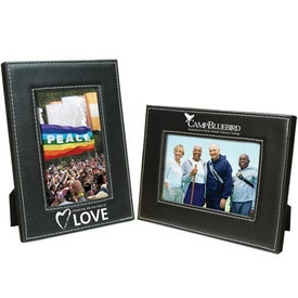 Customized 5 x 7 White Stitch Frame