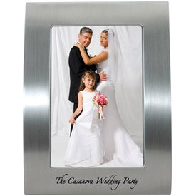 5 x 7 Brushed Silver Curved Frame for Your Company