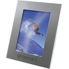 Logo Brushed Silver Metal Picture Frame