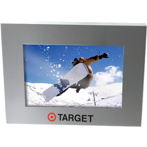 Promotional Brushed Silver Metal Picture Frames with Custom Logo for ...