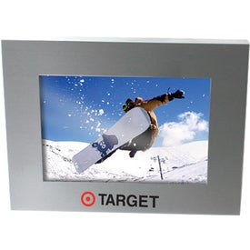 Imprinted Brushed Silver Metal Picture Frame