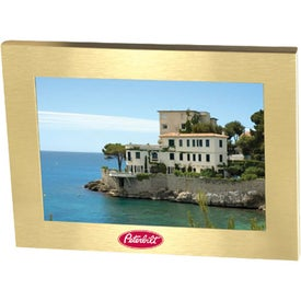 Branded Brushed Gold Metal Frame