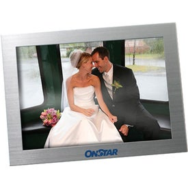 Imprinted Silver Metal Picture Frame