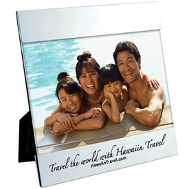 6 x 4 Aluminum Photo Frame Imprinted with Your Logo