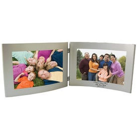 6 x 4 Silver Dual Hinged Curved Frame for Customization