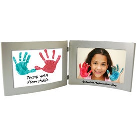 Logo 6 x 4 Silver Dual Hinged Curved Frame