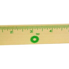 Natural Finish Ruler Printed with Your Logo
