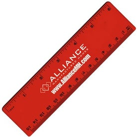"6"" Plastic Ruler Imprinted with Your Logo"