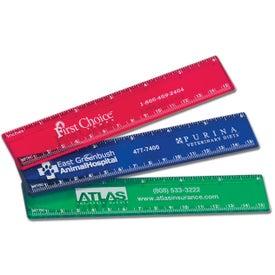 """Branded 6"""" Plastic Ruler"""