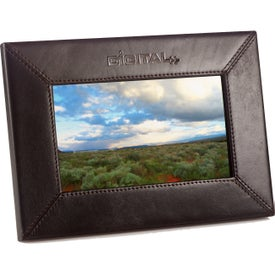 "Company 7"" Leather Digital Photo Frame"