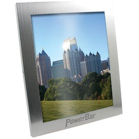 Brushed Silver Metal Picture Frame Branded with Your Logo