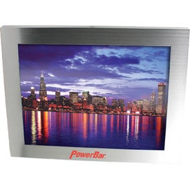 "Brushed Silver Metal Picture Frame (9.875"" x 11.875"" x 0.625"")"
