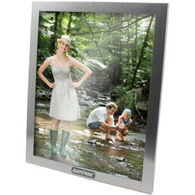 Silver Metal Picture Frame Imprinted with Your Logo