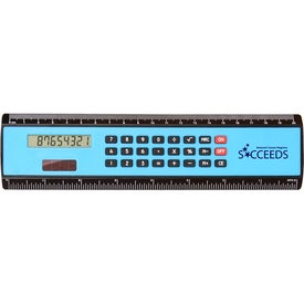 """8"""" Black Edge Ruler/Calculator Printed with Your Logo"""