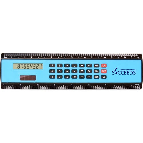 "8"" Black Edge Ruler/Calculator"
