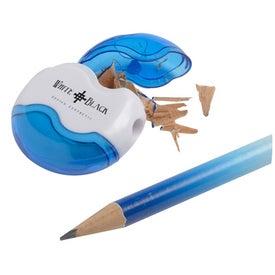 Advertising Achiever Pencil Sharpener and Eraser