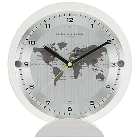 Printed All'ora World Time Desk Clock