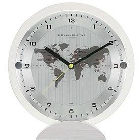 Printed All'ora World Time Desk Clock