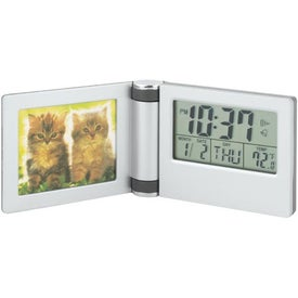 Aluminum Photo Travel Alarm with Your Slogan