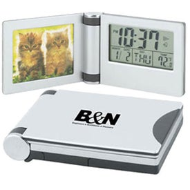 Aluminum Photo Travel Alarm