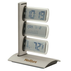 Amone World Time Clock with Thermometer