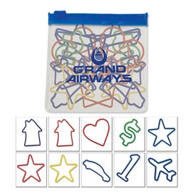 Assorted Shaped Rubber Bands in a Clear Pouch with Color