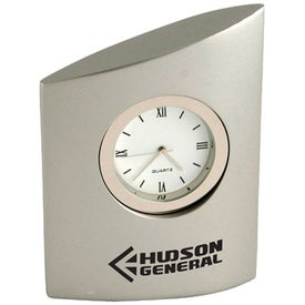 Asymmetrical Desk Clock Printed with Your Logo