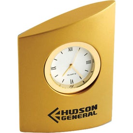 Asymmetrical Desk Clock Branded with Your Logo