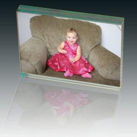 Atrium Glass Desk Frame-Large for Advertising