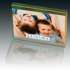 Atrium Glass Desk Frame-Medium Printed with Your Logo