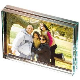 Atrium Glass Desk Frame-Medium Branded with Your Logo