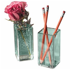 Promotional Atrium Glass Pencil Holder/Flower Vase