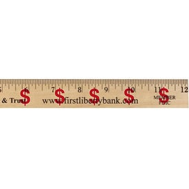"Dollar Sign Background Rulers (12"")"