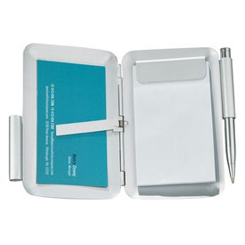 Balmain Business Card Case with Pen Imprinted with Your Logo