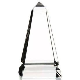 Benton Obelisk Award Printed with Your Logo